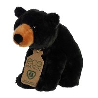 Aurora Toy   Eco Plush Animal   Black Bear