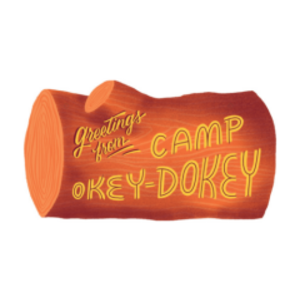 Gibbs Smith Card | Plaque | Greetings from Camp Okey Dokey