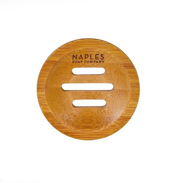 Naples Soap Company Soap Dish   Round Bamboo