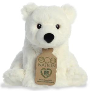 Aurora Toy | Eco Plush Animal | Polar Bear