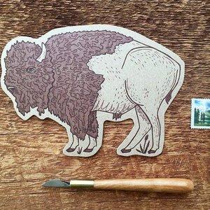 Noteworthy Postcard | Die Cut | Bison