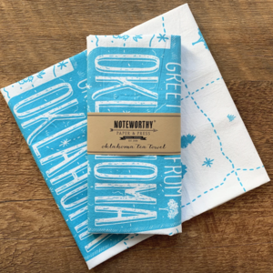 Noteworthy Tea Towel | Greetings from Oklahoma