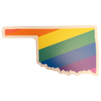 Stickers Northwest Sticker   Oklahoma Rainbow