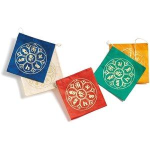 dZi Handmade Tibetan Prayer Flags | Lotus
