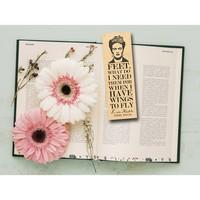 Fly Paper Wooden Bookmark   Frida Kahlo