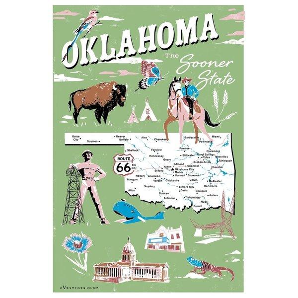 Vestiges Tea Towels   Oklahoma