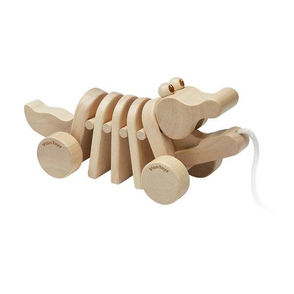 Plan Toys Toy   Pull-Along Dancing Alligator   Natural