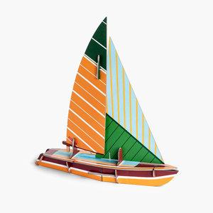 Studio Roof 3D Puzzle | Cool Classic | Sailboat