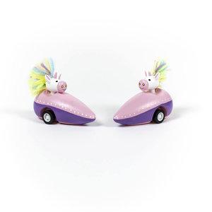Jack Rabbit Creations Toy | Pull Back Racer | Unicorn