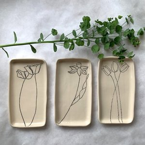 CSF Ceramics Small Ceramic Tray | Flower