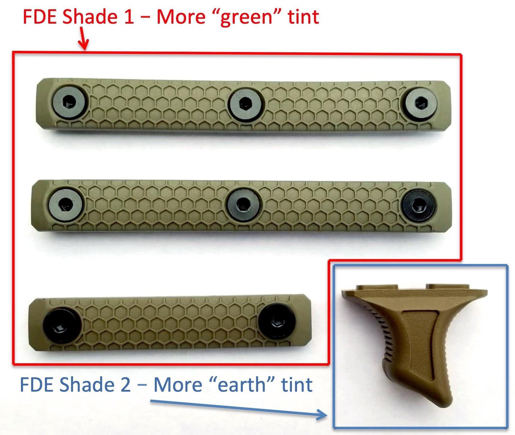 "Slate Black Industries ""50 Shades"" Specialty Slate Grip Bundle  FDE"