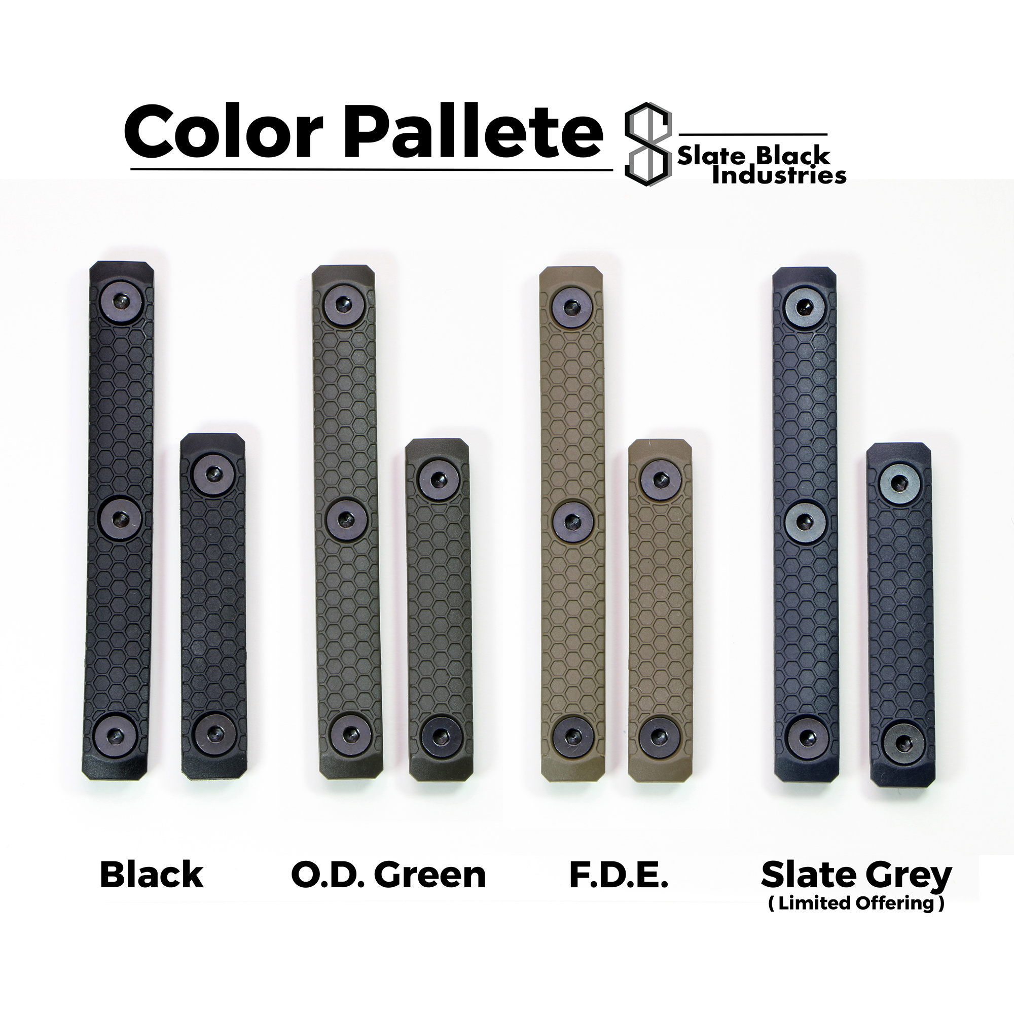 Slate Black Industries Replacement Slate Grip, 3-slot, single panel only