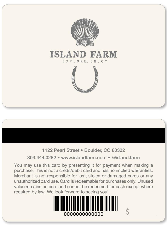 Island Farm Gift Card
