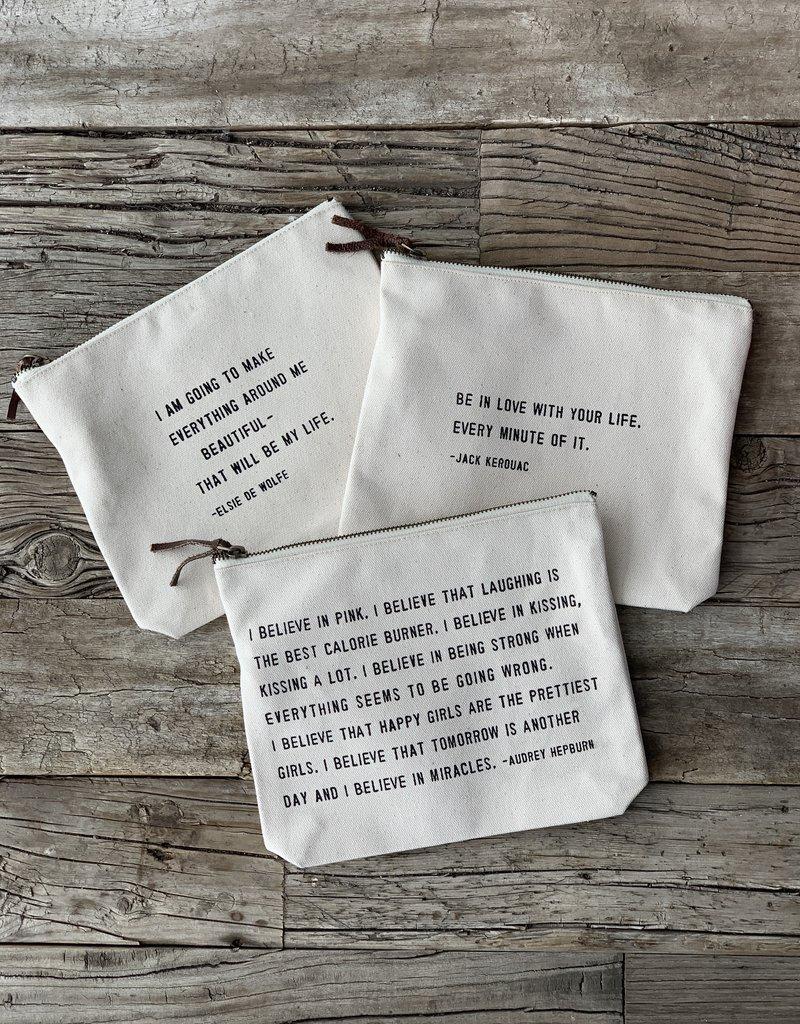 Sugarboo Sugarboo Zip Bag - Audrey Hepburn