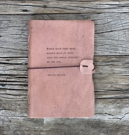 Sugarboo Artistan Leather Journal - Helen Keller
