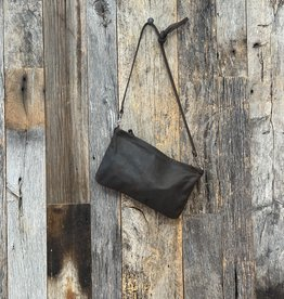 Rough and Tumble Leather Crossbody Case - Distressed Espresso