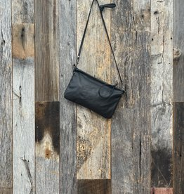 Rough and Tumble Leather Crossbody Case - Black