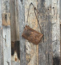 Rough and Tumble Leather Crossbody Case - Rustic Pecan