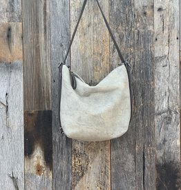 Rough and Tumble Hobo Medium - Stone Suede