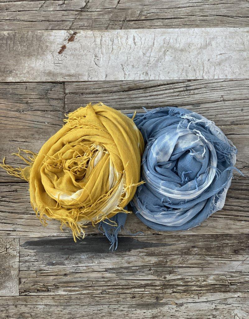 Chan Luu Chan Luu Cashmere Silk Scarf - Tie Dye Yellow