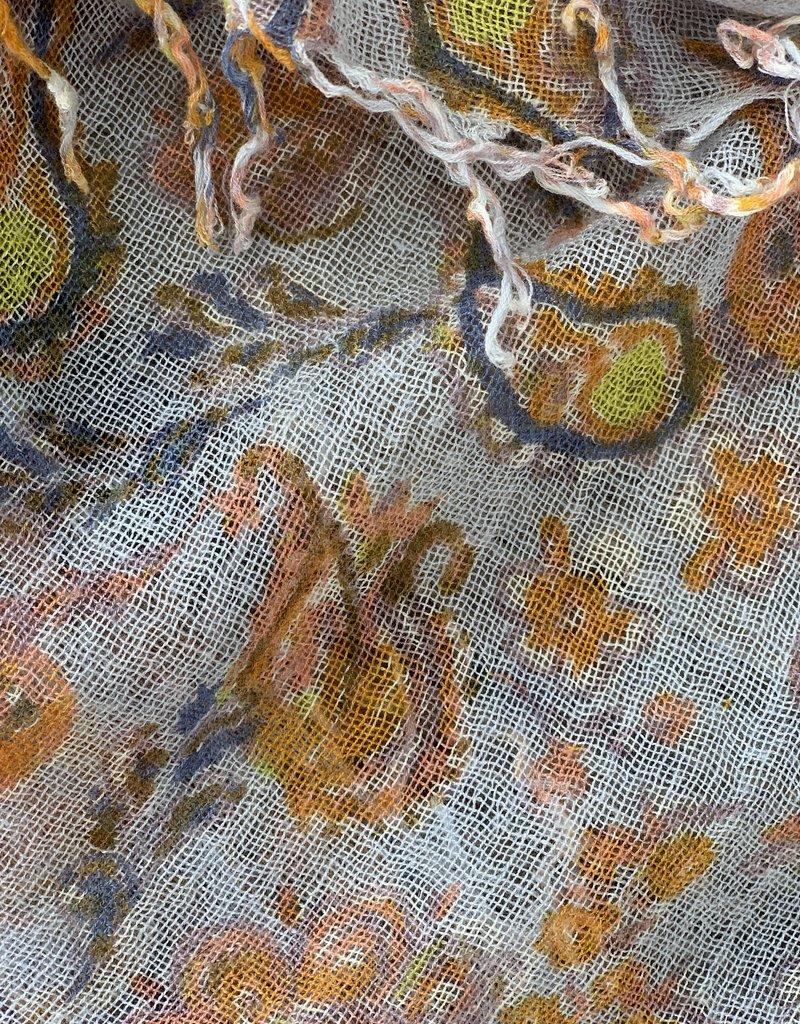 Chan Luu Chan Luu Cashmere Silk Scarf - Blue Paisley