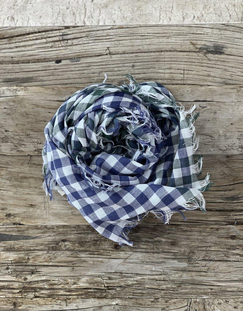 Chan Luu Chan Luu Plaid Cotton Scarf - Green/Navy