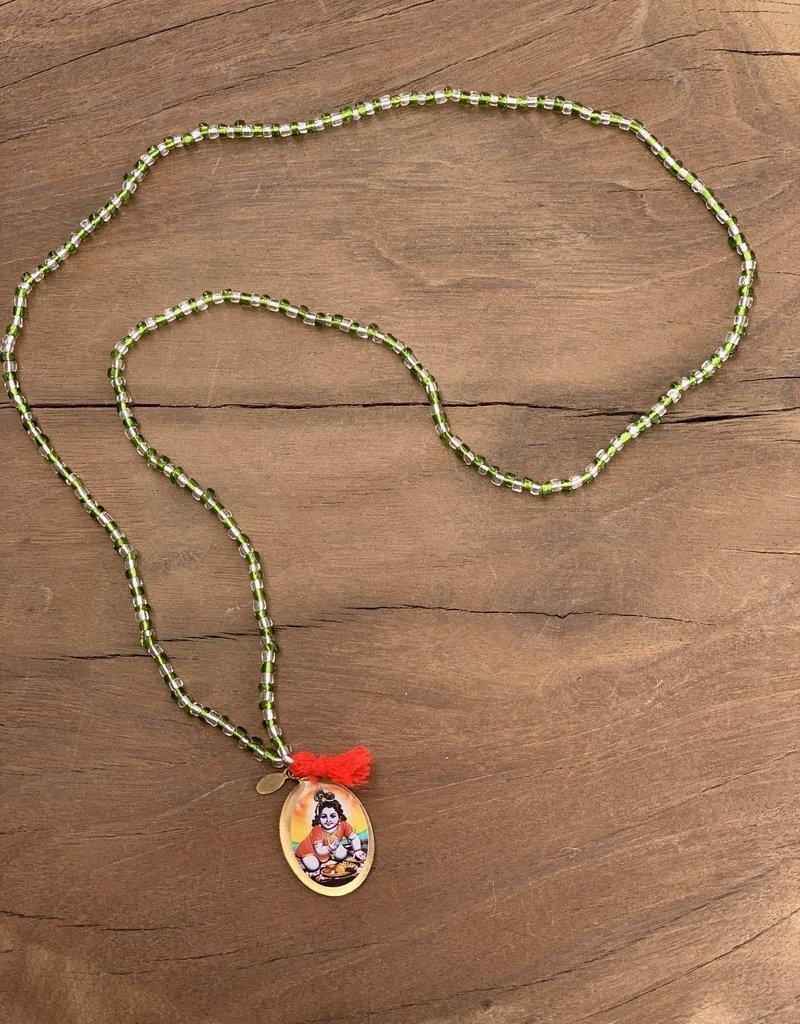 Matta Matta Temple Rosary - Green