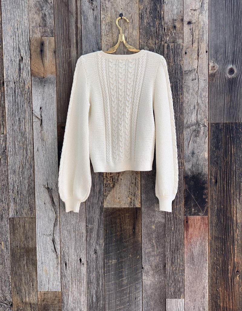 Lilla P Lilla P Cable Crewneck Sweater
