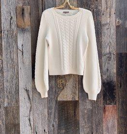 Lilla P Lilla P Cable Crewneck Sweater