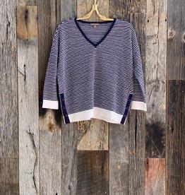Lilla P Lilla P 3/4 Sleeve Snap V-Neck Sweater