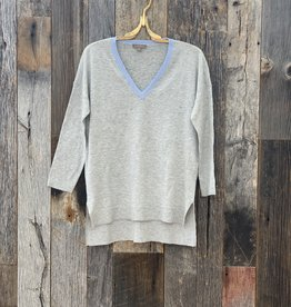 Lilla P Lilla P Colorblock V-Neck Sweater