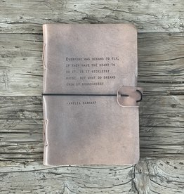 Sugarboo Sugarboo Artistan Leather Journal - Amelia Earhart