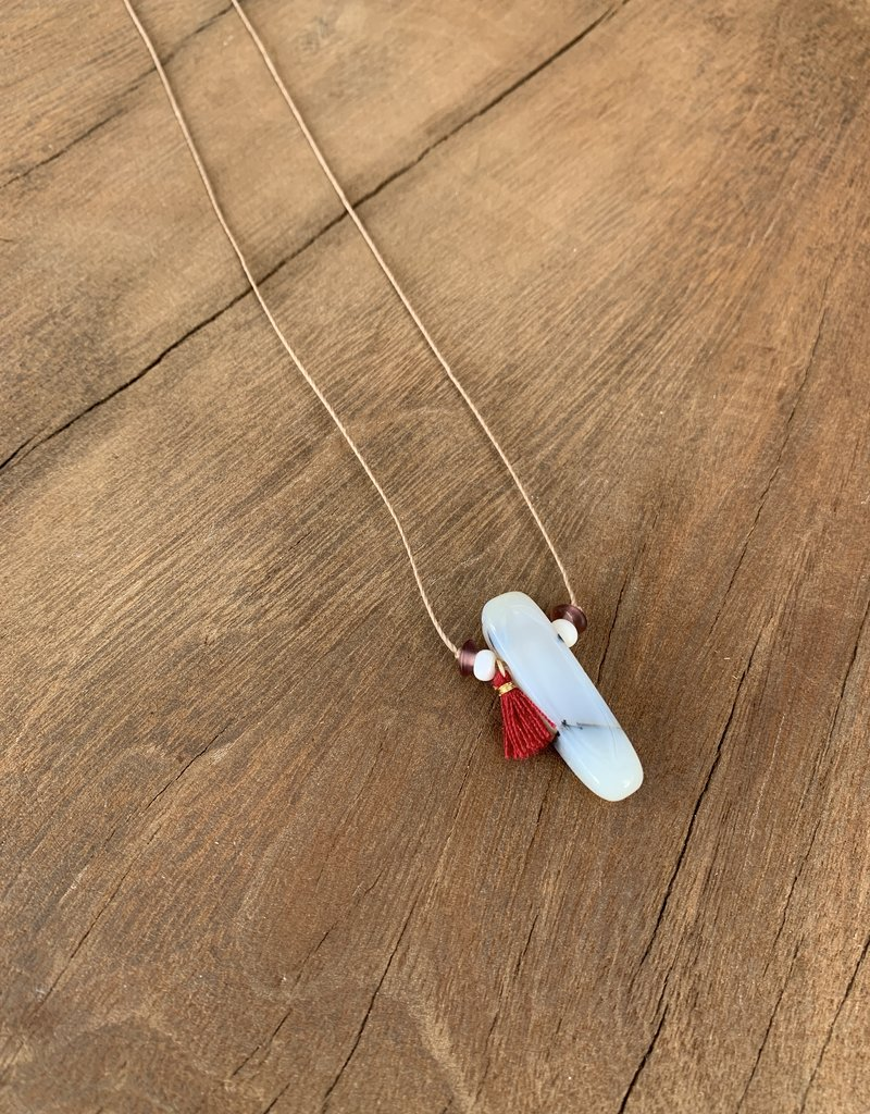 Leap Jewelry Necklace Stone Pendant 001