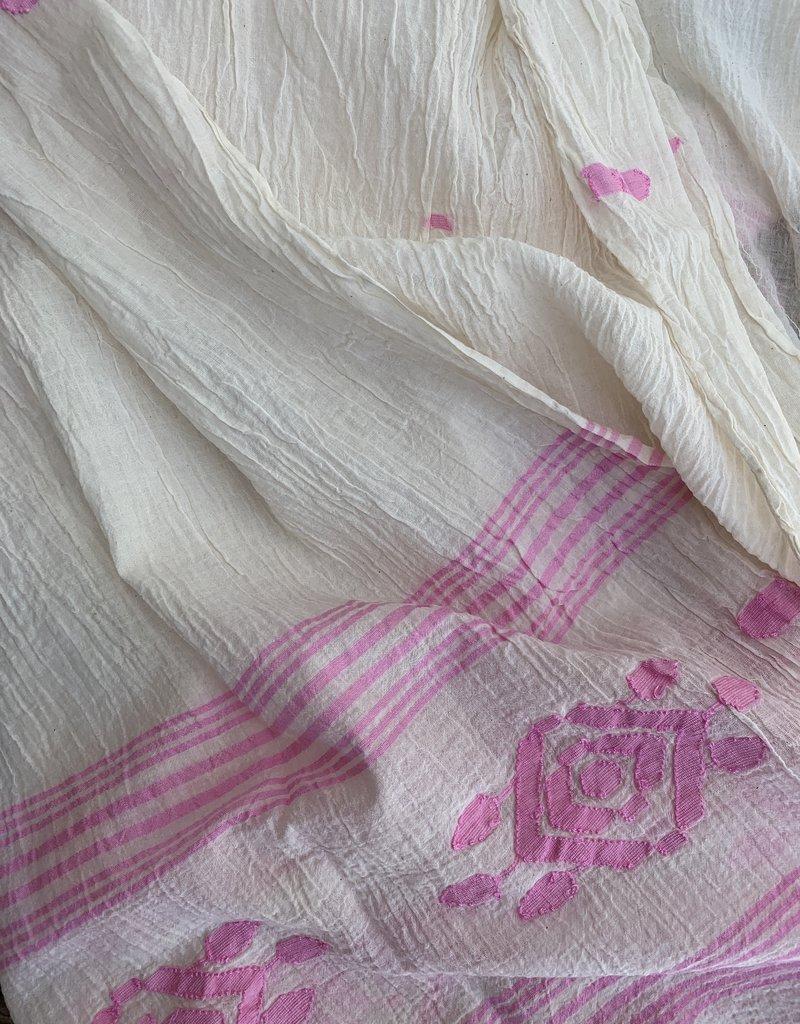 Auntie Oti Auntie Oti Jamdani Scarf - Pink