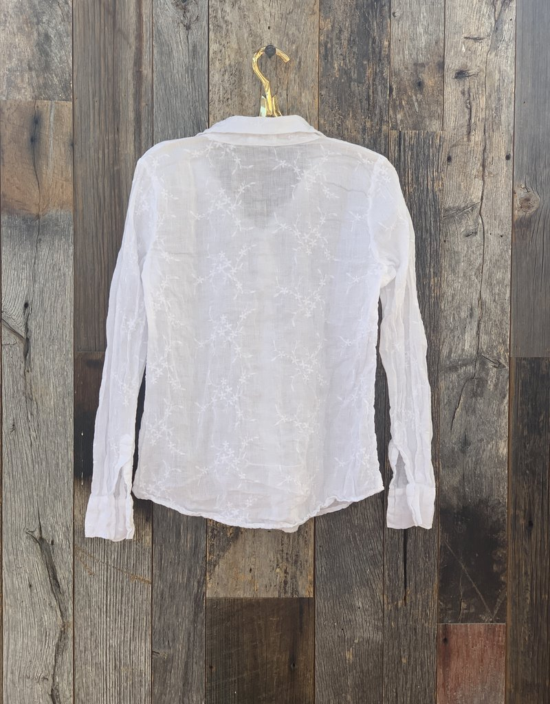 CP Shades CP Shades Romy Embroidered Button Up Top