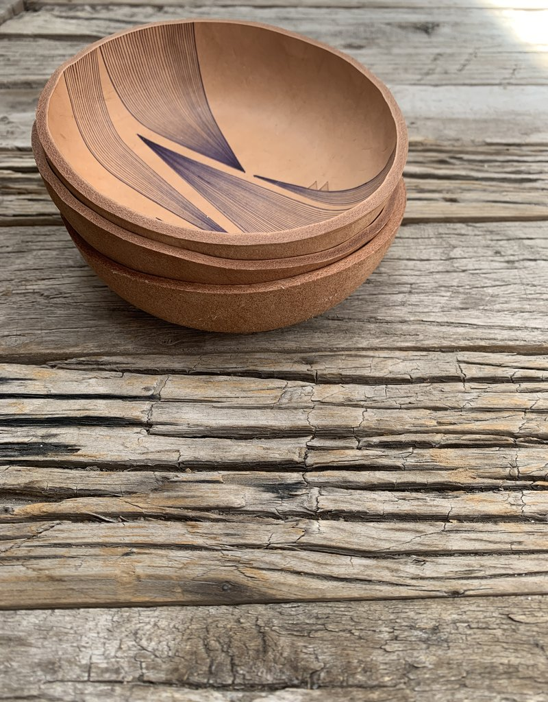 Alexa Allen Leather Bowl - Mountains