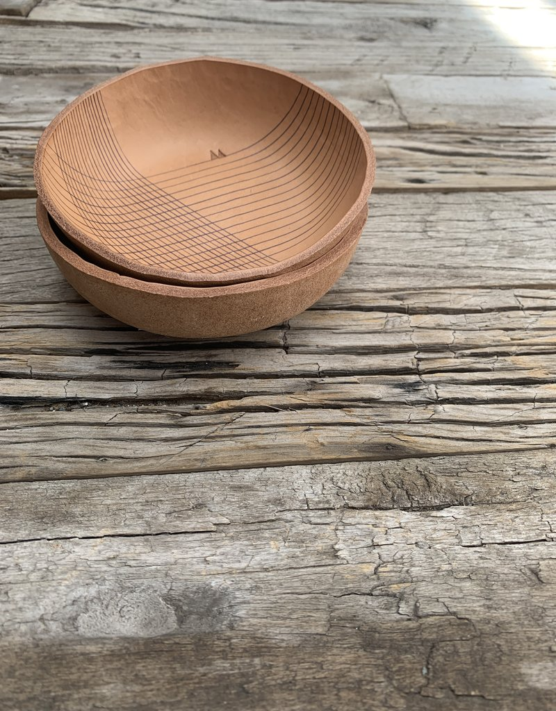 Alexa Allen Leather Bowl - Lines