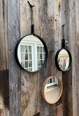"""Alexa Allen Mirror 10"""" - Natural with White Stitch"""