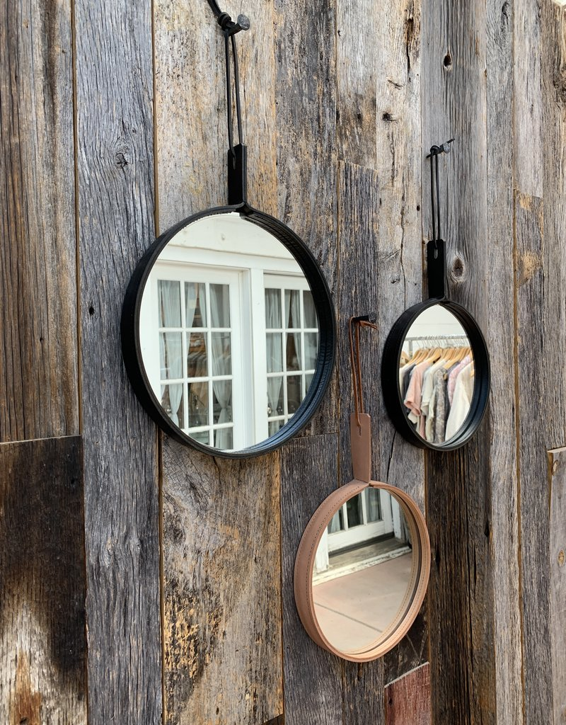"Alexa Allen Mirror 12"" - Black with Black Stitch"