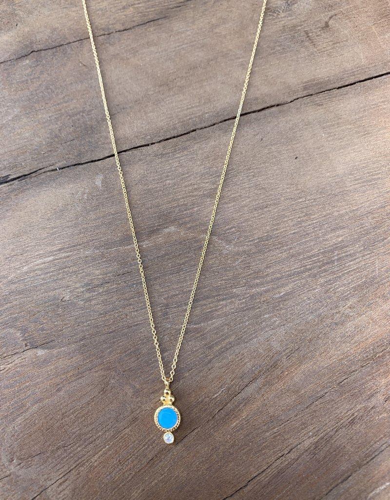 Leah Alexandra Jewelry Leah Alexandra Todos Neck - Turquoise
