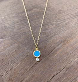 Leah Alexandra Jewelry Leah Alexandra Todos Neck - Turquoise