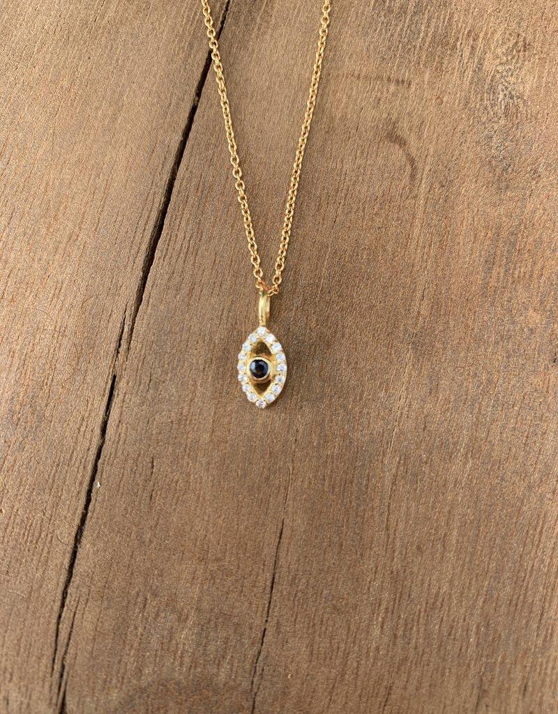 Leah Alexandra Jewelry Leah Alexandra Evil Eye Neck