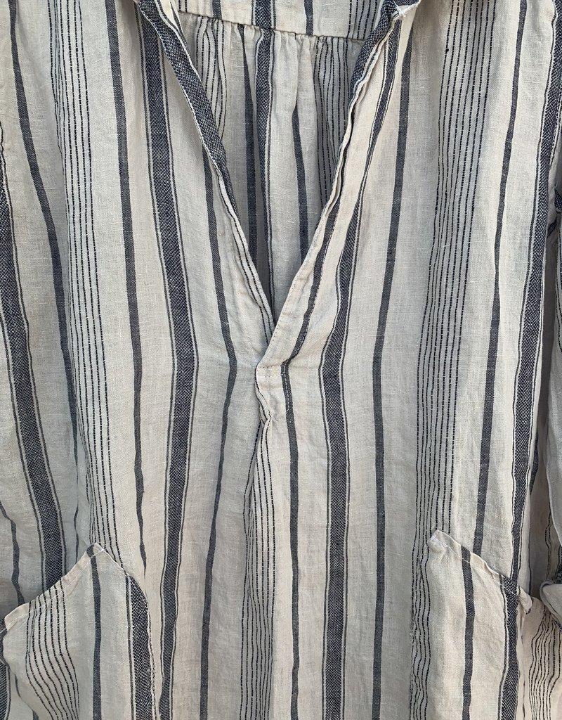 CP Shades CP Shades Linen Teton Top - Navy Stripe