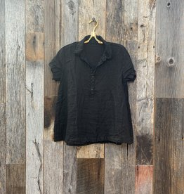 CP Shades CP Shades Peek Linen Top - Black