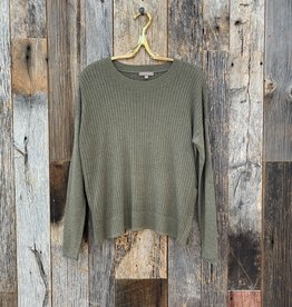 Lilla P Lilla P Side Snap Pullover Sweater - Fir