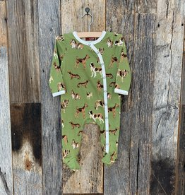 Milkbarn Milkbarn Footed Romper Green Dog