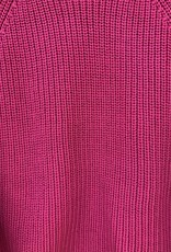 525 America 525 America Balloon Sleeve Cropped Sweater - Berry