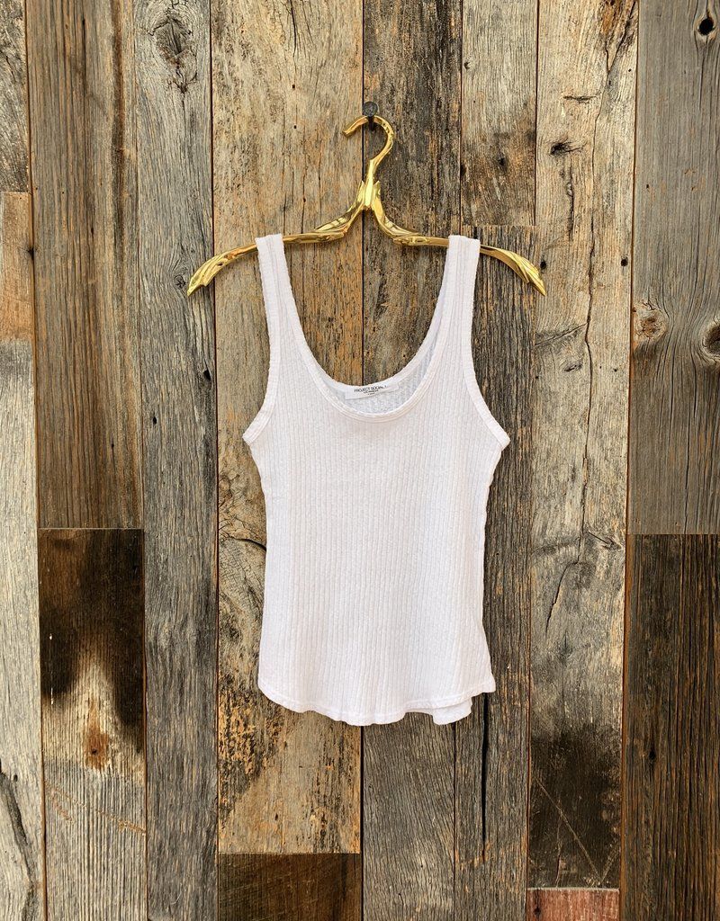 Project Social T Project Social T Bring It Back Rib Tank - White