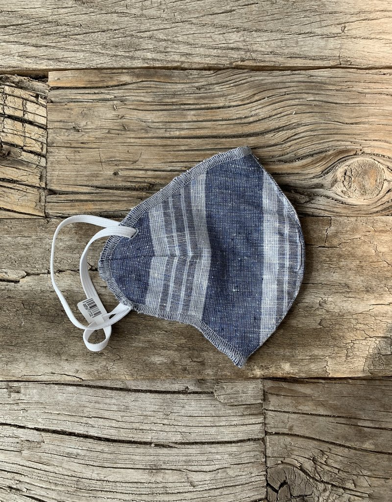 Foxlilie Foxlilie Denim Multi Stripe Mask