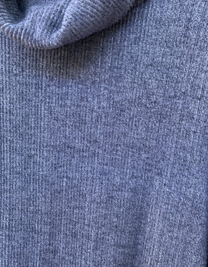 DYLAN Dylan Fuzzy Flecked Fleece Cowl Neck - Vintage Black